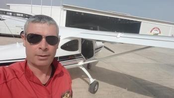 سقوط طائرة تدريب