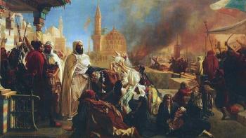 الأمير عبد القادر الجزائري يأوي المسيحيين أثناء مذابح دمشق 1860