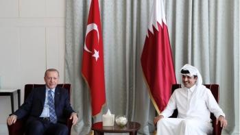 أمير قطر والرئيس التركي