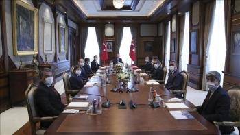 أردوغان ووفد وكالة الأناضول