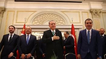 أردوغان ووزراء الخارجية والمالية