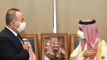 جاويش أوغلو، ونظيره السعودي