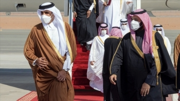 ولي عهد السعودية وأمير قطر