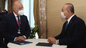 وزيرا خارجية تركيا واليونان