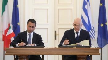 وزير خارجية اليونان ونظيره الإيطالي