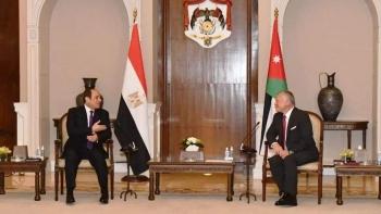العاهل الأردني والرئيس المصري
