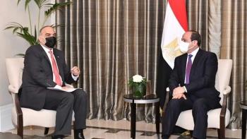 الرئيس المصري ورئيس وزراء الأردن