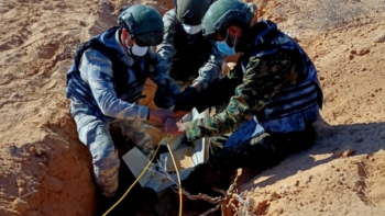 القوات التركية وعناصر من حكومة الوفاق