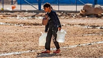 يعاني قرابة مليون شخص من انقطاع المياه في منطقة الحسكة