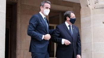 رئيس قبرص ورئيس الوزراء اليوناني