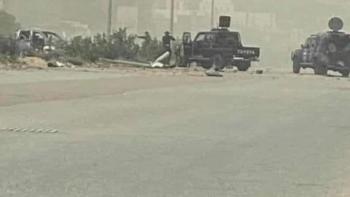 الصورة الأولى من محاولة اغتيال وزير الداخلية الليبي