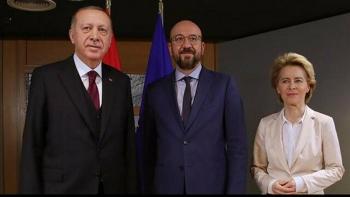 أردوغان وشارل ميشال وأورسولا فون دير لايين