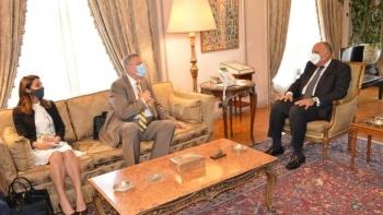 شكري والمبعوث الأممي إلى ليبيا