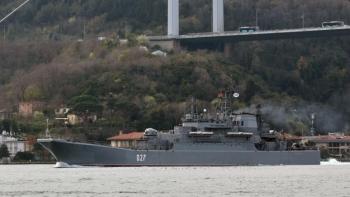 سفينة روسية بالبحر الأسود- أرشيفية