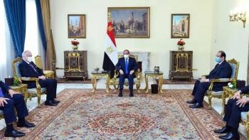 لقاء الرئيس المصري السيسي ورونالد لاودر رئيس الكونجرس اليهودي العالمي