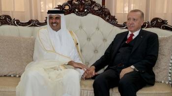 أمير قطر وأردوغان