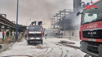 حريق في حمص