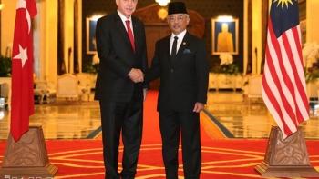 أردوغان وملك ماليزيا