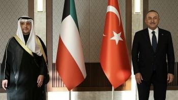 وزير الخارجية التركي والكويتي