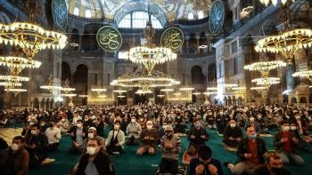 شعائر أول صلاة بمسجد آيا صوفيا