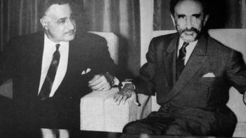 جمال عبد الناصر مع هيلاسيلاسي إمبراطور إثيوبيا