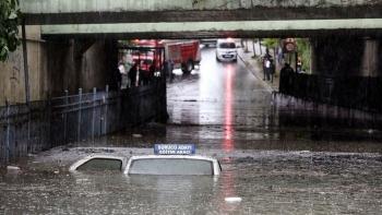 الأمطار في اسطنبول