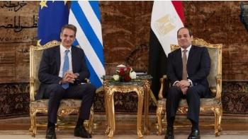 السيسى ورئيس الوزراء اليونانى