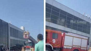 حريق مطار صبيحة
