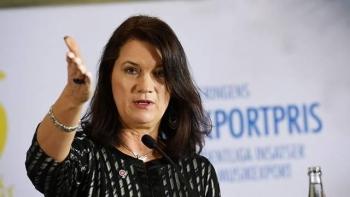 وزيرة الخارجية السويدية