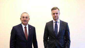 وزير خارجية ليتوانيا وجاويش اوغلو
