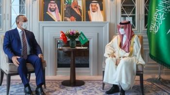 جاويش أوغلو ونظيره السعودي فرحان