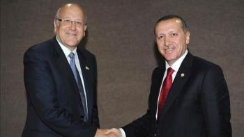 أردوغان ونجيب ميقاتي