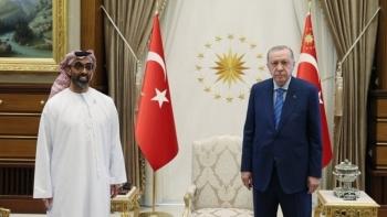 أردوغان وطحنون بن زايد