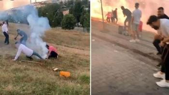 انفجار الألعاب النارية بين المعازيم