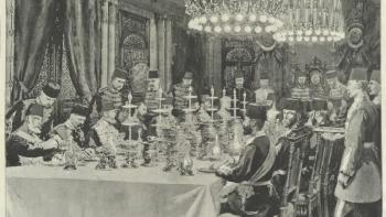 السلطان عبد الحميد الثاني في قصر يلدز - إسطنبول
