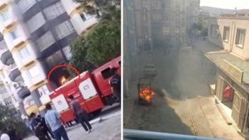 حرق منازل السوريين في تركيا