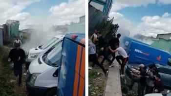 مهاجمة الشرطة التركية للعمال في تركيا