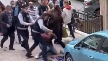 مشهد من لحظة الاعتداء