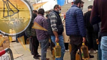 الأتراك بطوابير للحصول على الزيت