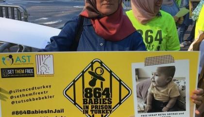 مظاهرات بأمريكا تطالب بتحرير أطفال من السجون التركية