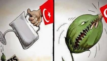 تركيا راعية الإرهاب تقود الشعب للهاوية