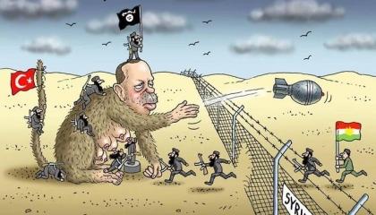 كاريكاتير يفضح مؤامرة أردوغان