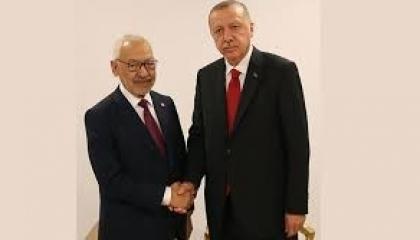 «الدم في كل كف».. إخوان تونس يصافحون مجرم الحرب في إسطنبول