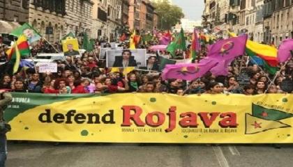 عشرات الآلاف يتظاهرون بالعاصمة الإيطالية لطرد تركيا من شمال سوريا
