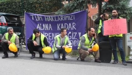 20 عاملًا في اعتصام مفتوح بسبب فصلهم من شركة أعلنت إفلاسها