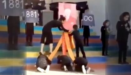 فيديو.. إعلام أردوغان يستغل عرضًا مسرحيًا للهجوم على أتاتورك: يسجدون لصورته