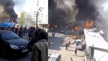 ميليشيات أردوغان تقتل 18 سوريًا وتصيب 30 آخرين في انفجار بحلب..«فيديو»