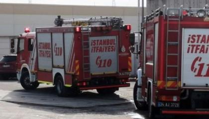 حريق بمصنع حديد في إسطنبول