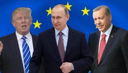 مذلون مهانون... تاريخ مخجل لأردوغان ورجاله على أبواب الزعماء (صور وفيديو)