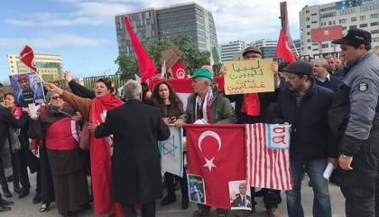 بالفيديو.. التونسيون يحتجون ضد التدخل التركي في ليبيا